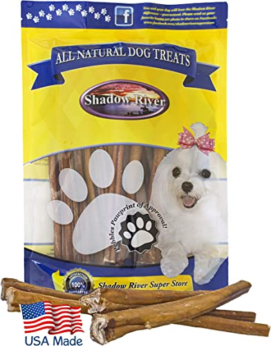 Shadow River 25 Pack 12 Inch Jumbo All Natural Beef Bully Sticks for Dogs