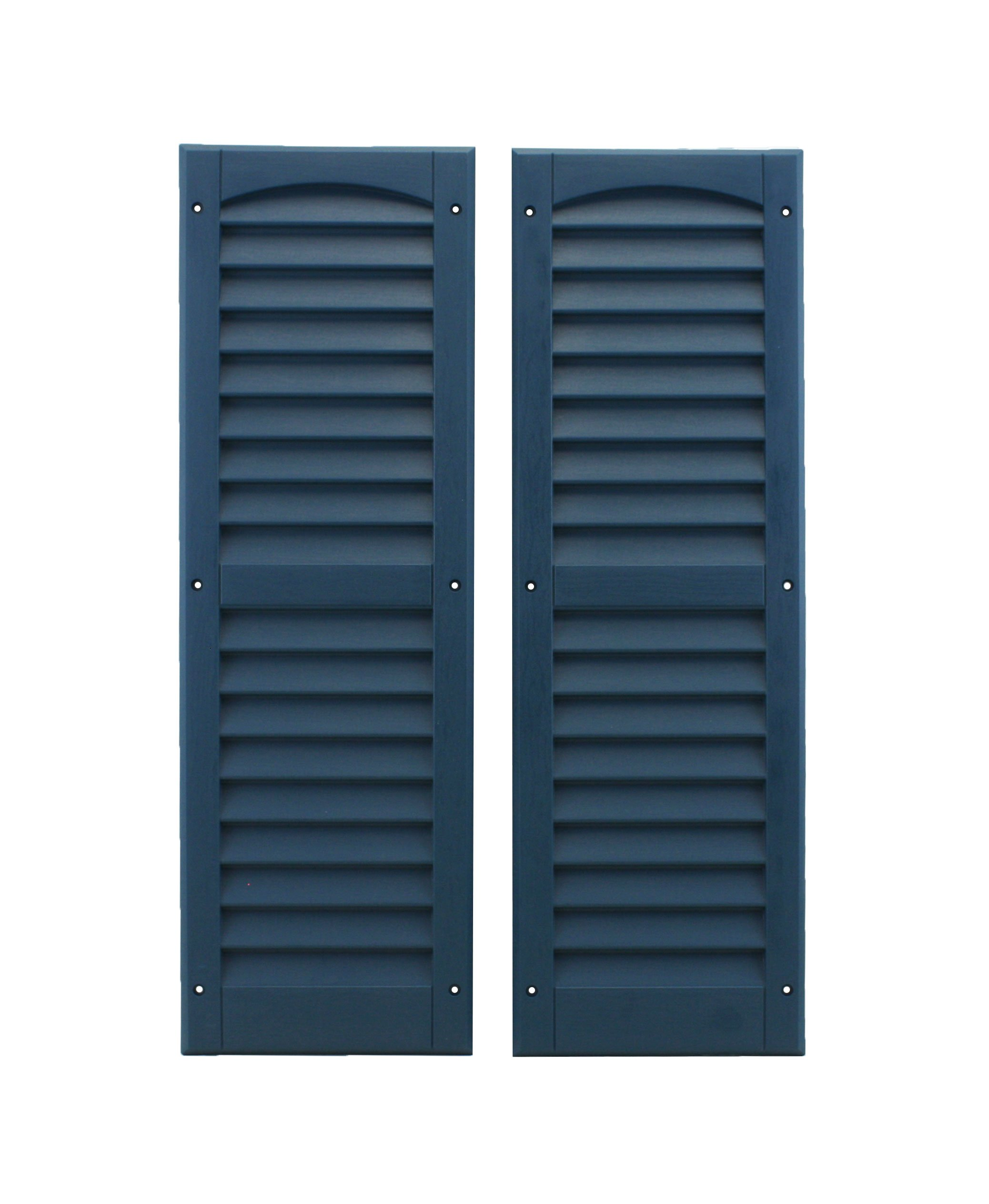Louvered Shed Shutter or Playhouse Shutter, Blue 9'' X 27'', 1 Pair