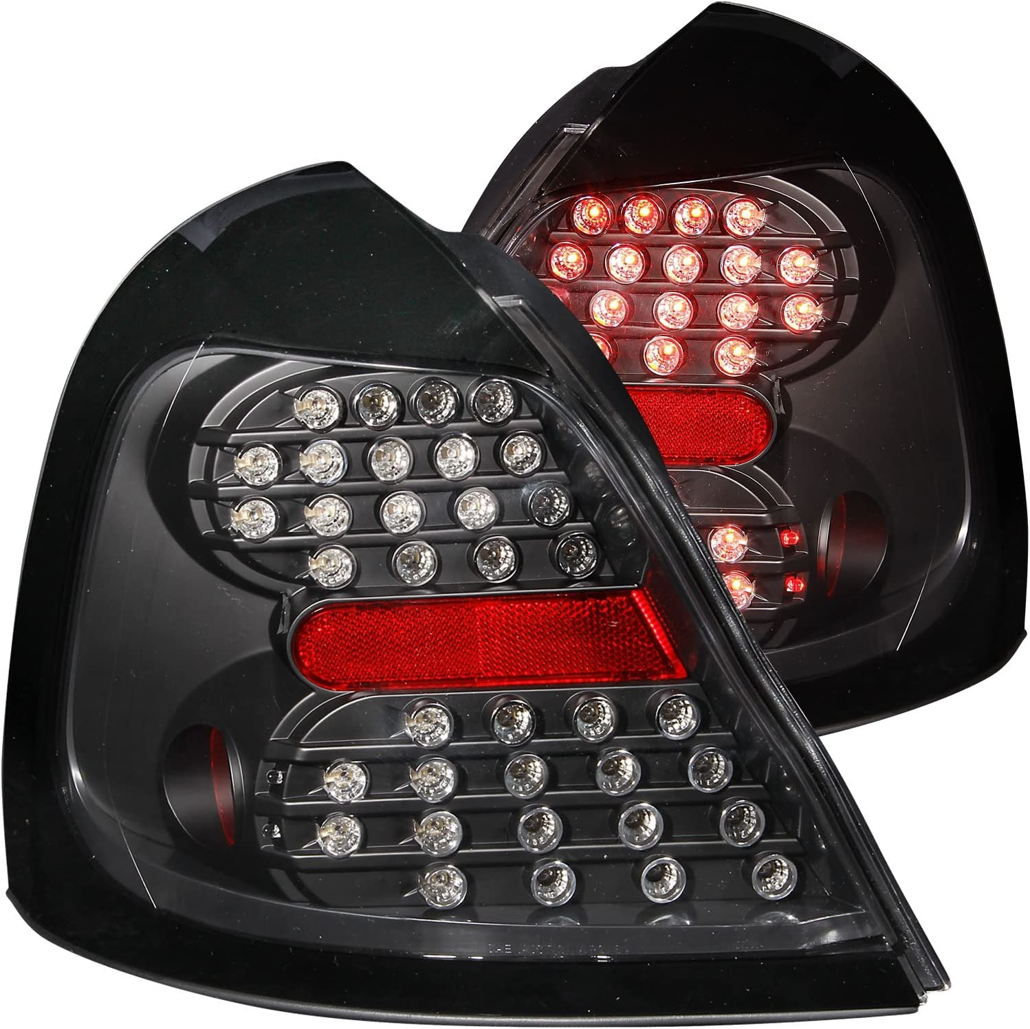 Anzo USA 211113 Mazda B2000 Black Tail Light Assembly Sold in Pairs