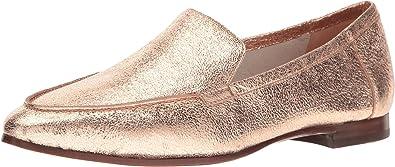 16d6a48b005 Kate Spade New York Women s Carima Rose Gold Crackle Metallic Nappa Loafer