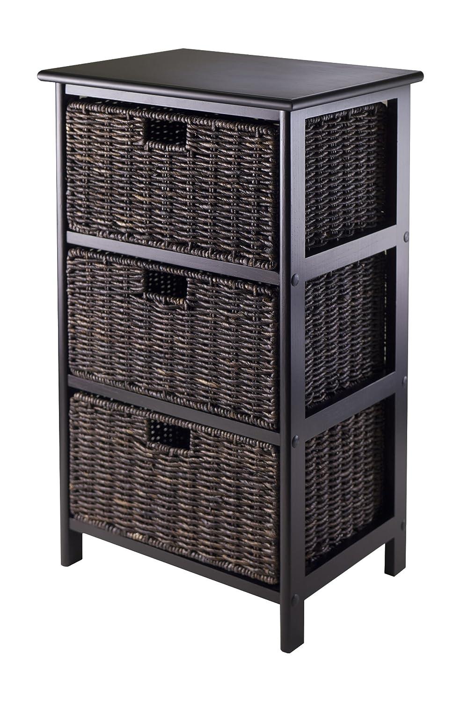 Winsome Omaha Storage/Organization, 3 Baskets, Black