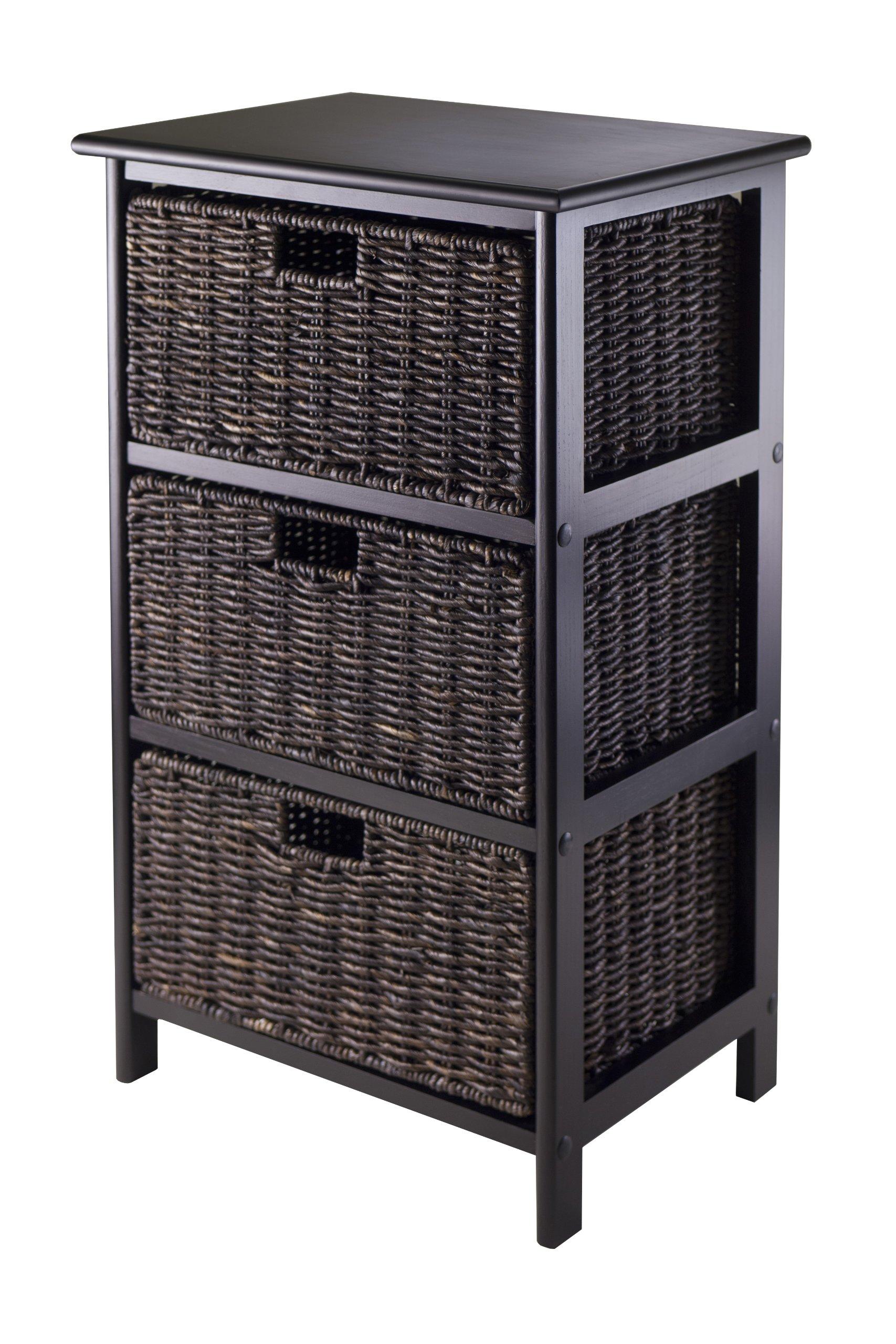 Winsome Omaha Storage/Organization, 3 Baskets, Black by Winsome