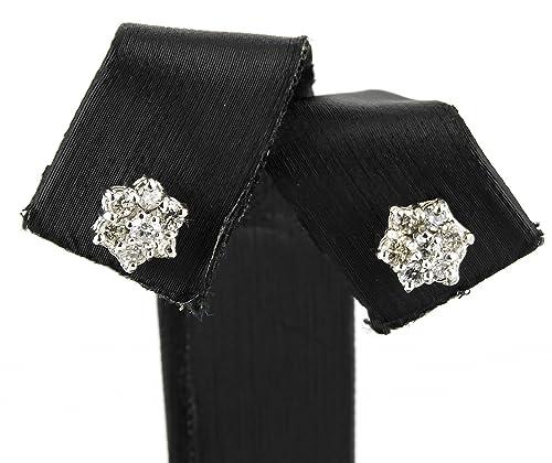 e325c1590fdf Zendel Joyas - Pendientes con diseño de estrella realizados en oro blanco  de 18 kt. con diamantes de talla brillante engarzados - 17959  Amazon.es   Joyería