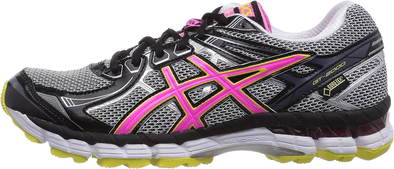 ASICS Gt-2000 2 G-TX - Zapatillas De Correr En Montaña para Mujer, Color Silber (9135-lightning/hot Pink/Schwarz), Talla 37: Amazon.es: Zapatos y complementos