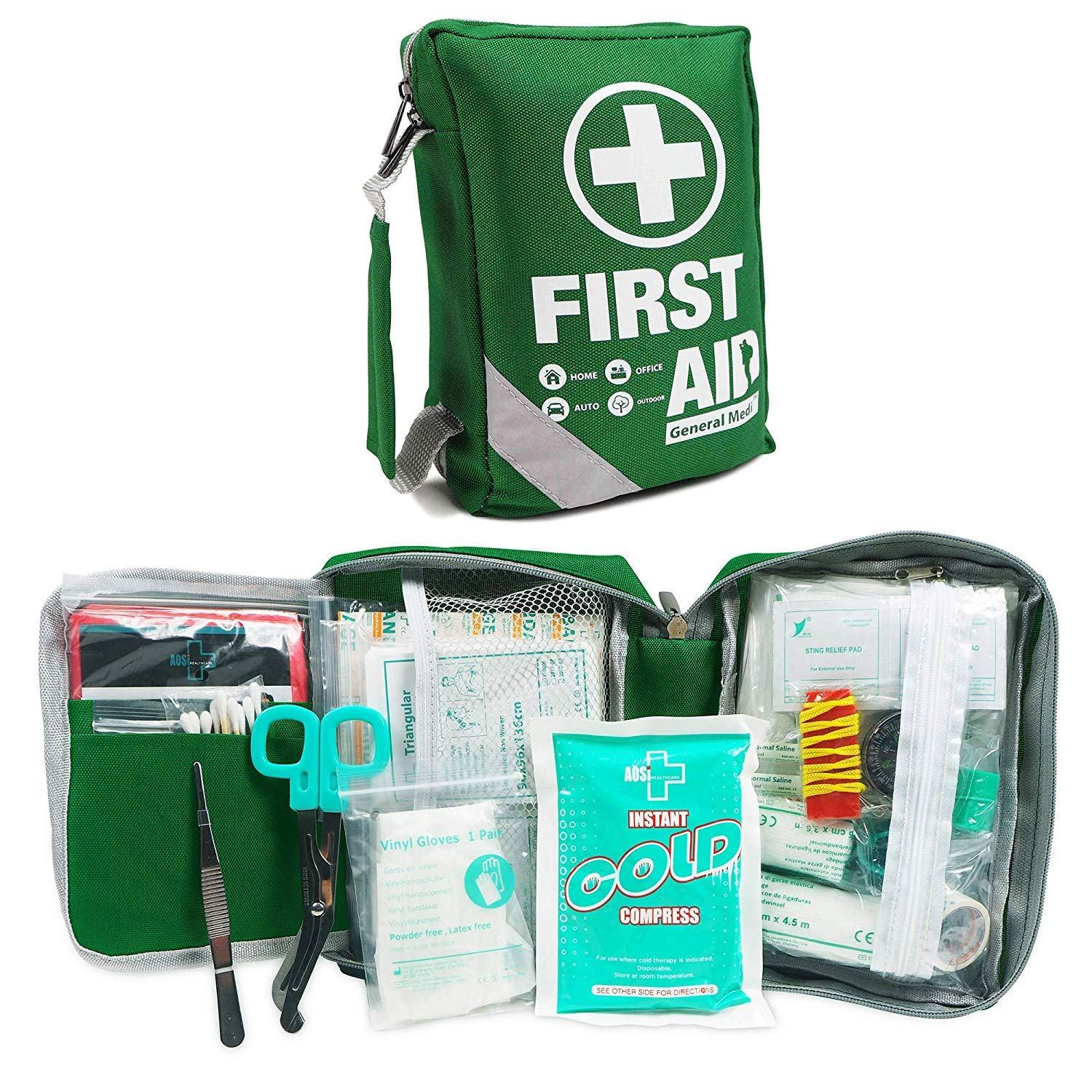 First Aid Kit 36 Pieces in Practical Case with Belt Loop