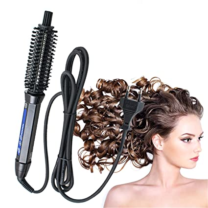 Denshine Profesional de la vuelta del hierro del estilo del salon Cepillo termico moldeado de pelo