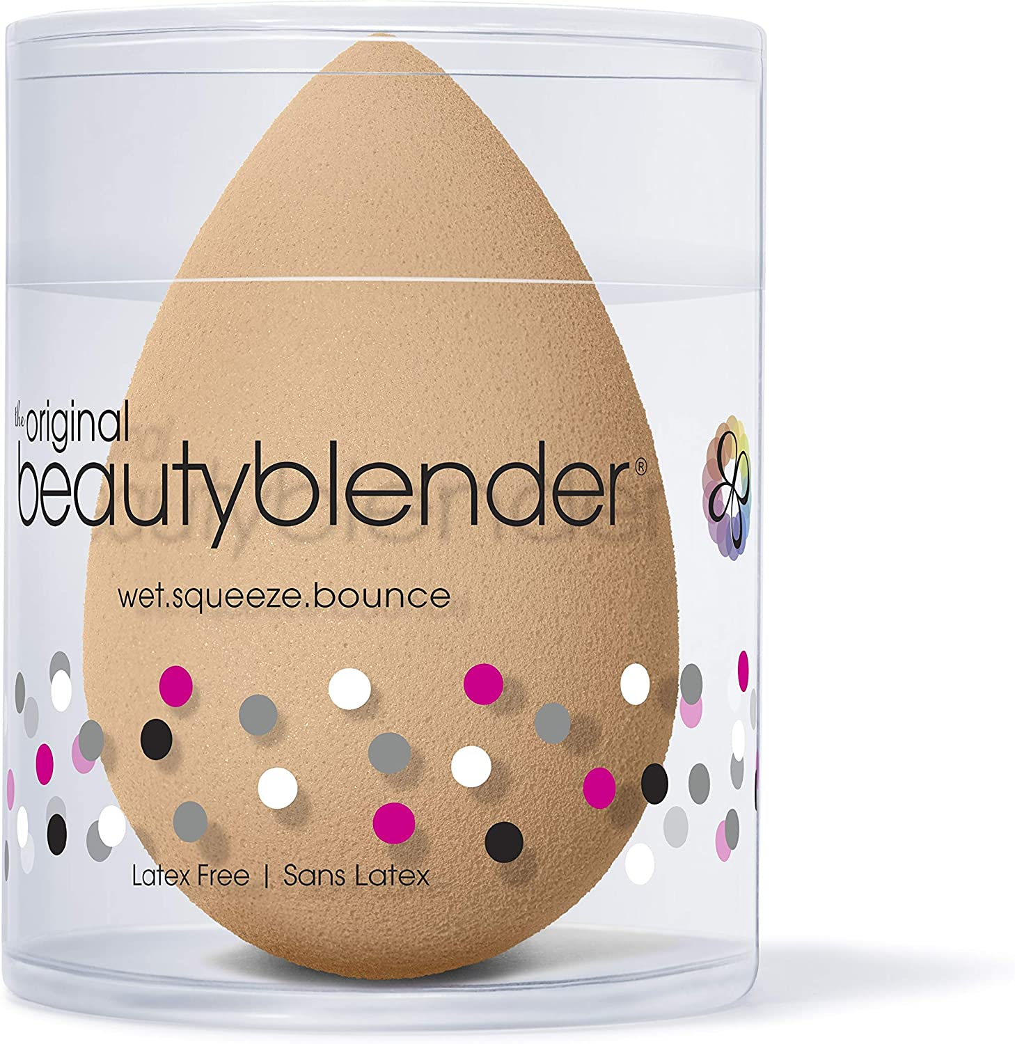 BEAUTYBLENDER Nude Makeup Sponge for a Flawless Natural Look, Perfect with Foundations, Powders & Creams