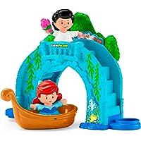 Fisher-Price Playset Little People Disney Princesas, Paseo en Bote Eric y Ariel