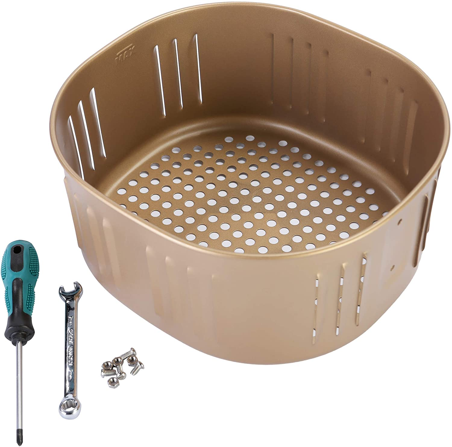 Air Fryer Replacement Basket For Power XL DASH Gowise USA Cozyna 5.5Qt Air Fryer,Air fryer Accessories, Non-Stick Fry Basket, Dishwasher Safe