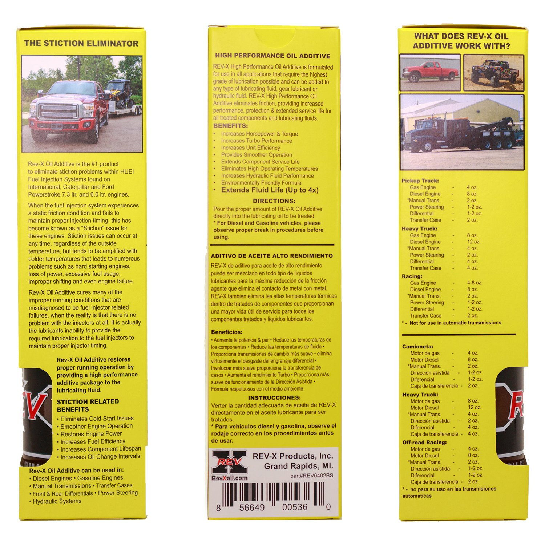 Amazon.com: REV-X Super Ultimate Kit for Diesel - 4oz High Performance Oil Additive (2) + 8oz Ultimate Fuel Treatment (2): Automotive