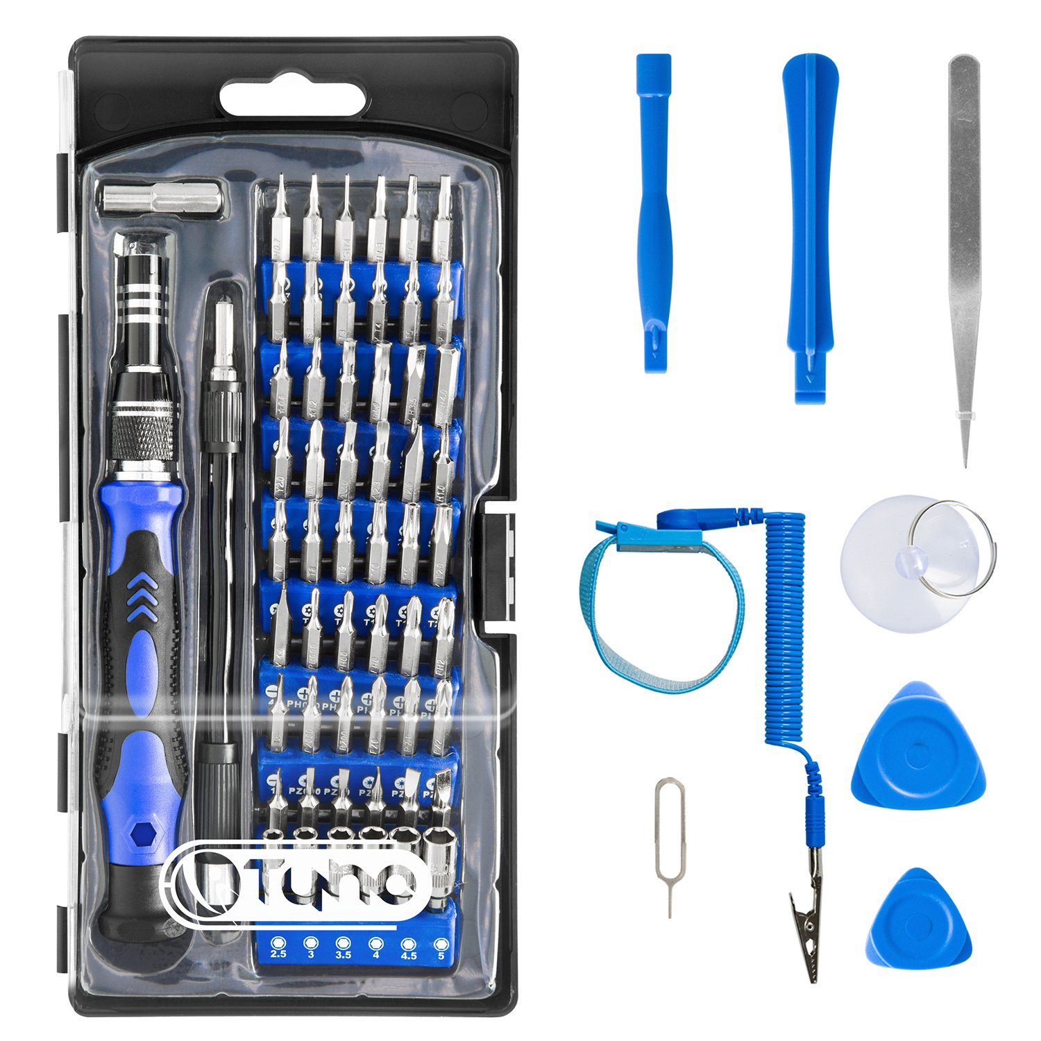 Precision Screwdriver Set TyhoTech 65 in 1 Magnetic Screwdriver Set Repair Tools Kit with 54 Bits Driver Kit for iPhone iPad Laptop Smartphones MacBook PC Watches Xbox Glasses Cameras by TyhoTech