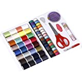 BMS Lifestyle Mini Sewing Kit with 100 Sewing Accessories with Spools of Thread for Beginners, Emergency