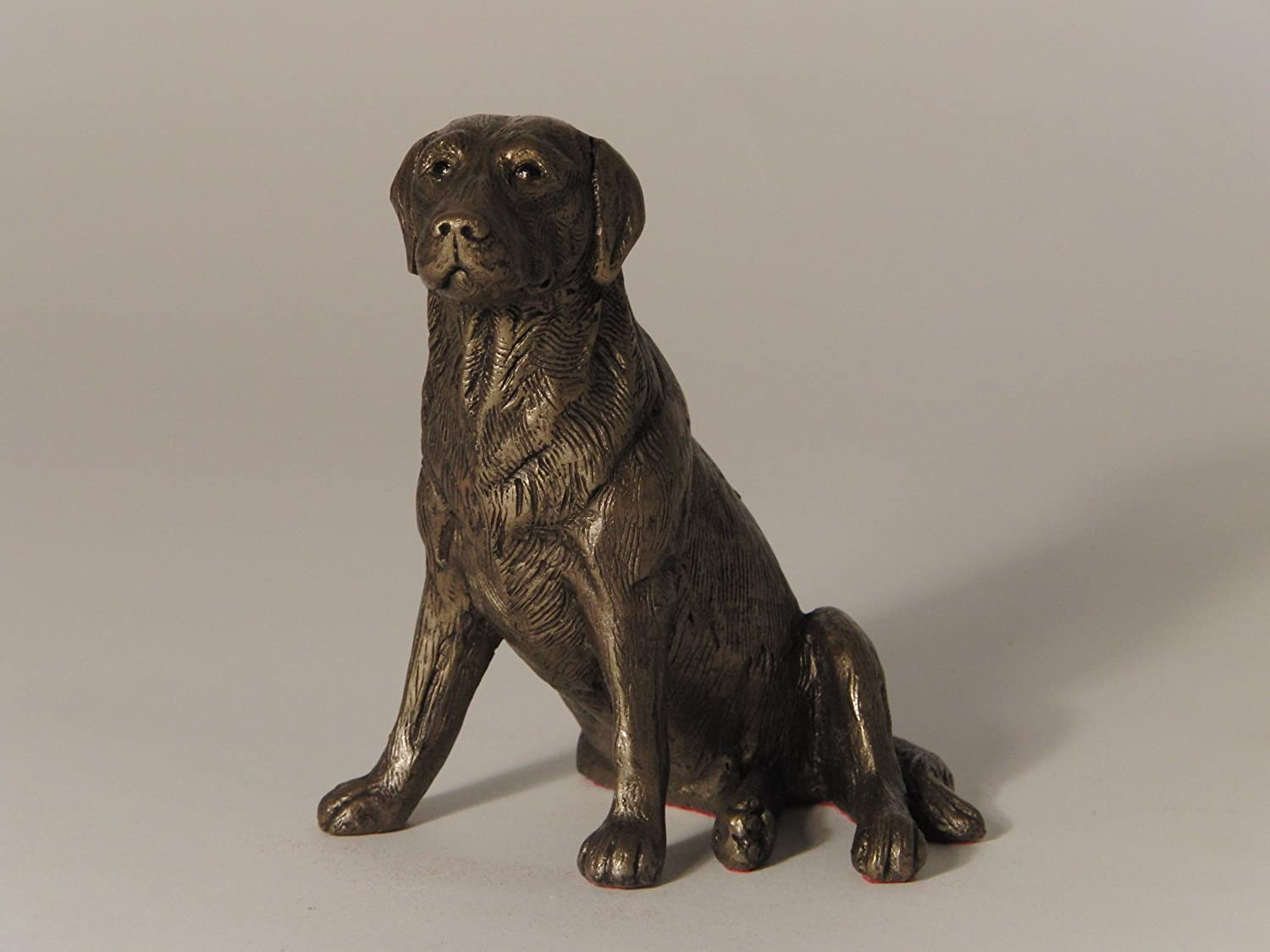 'Nigel', Labrador Sitting, Cold Cast Bronze Sculpture by Bulgarian sculpture Mitko. An ideal gift for the dog lover (MK004). 'Nigel'