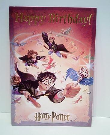 Amazon.com: Harry Potter Flying Keys Tarjeta de cumpleaños ...