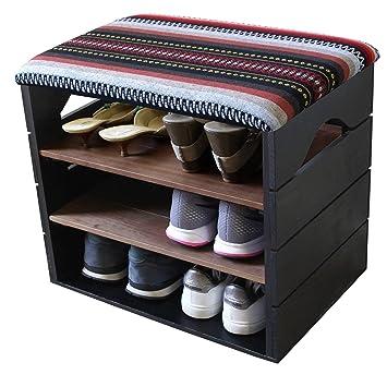 Liza Line Meuble Chaussures Banc De Rangement Avec Assise