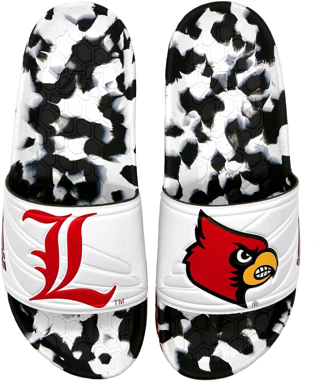 Hype Co University of Louisville UL Cardinals Slydr Sports Slide Sandal : Clothing