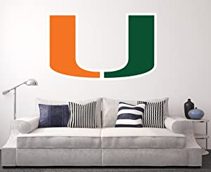 Miami Hurricanes Wall Decal Home Decor Art NCAA Team Sticker