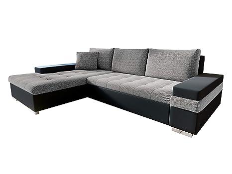 04c09ff563be1a Design Ecksofa Bangkok Mini, Moderne Eckcouch mit Schlaffunktion und  Bettkasten, schwerentflammbar stoff, Ecksofa