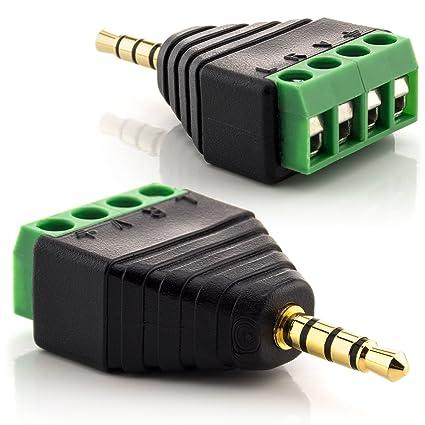 Klinkenstecker Adapter 2,5mm Klinke Buchse auf zu 3,5mm Klinke Stecker 4-polig