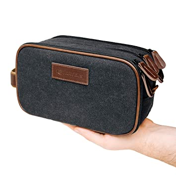 1f110e41ec1a Travel Toiletry Bag - Mens Dopp kit - Hanging Cosmetic Organizer for Men