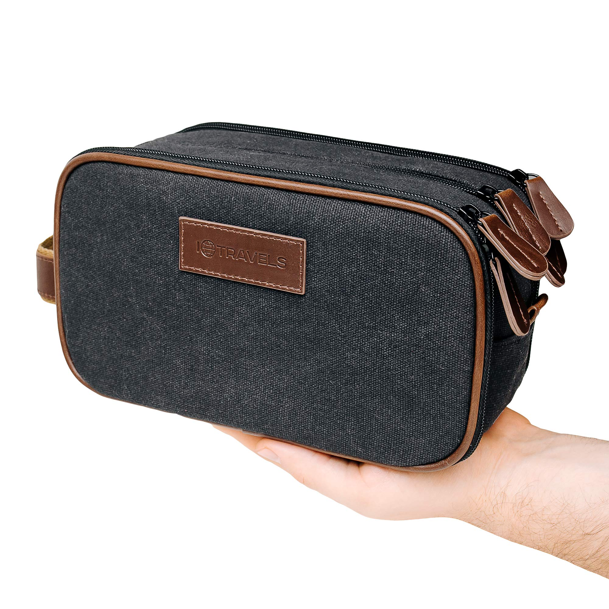 Travel Toiletry Bag - Mens Dopp kit - Hanging Cosmetic Organizer for Men | Large Portable Bathroom Accessories Kit | Hygiene Shaving bag | Diabetic Medicine Bag | Zippered Compartments, Mesh Pockets