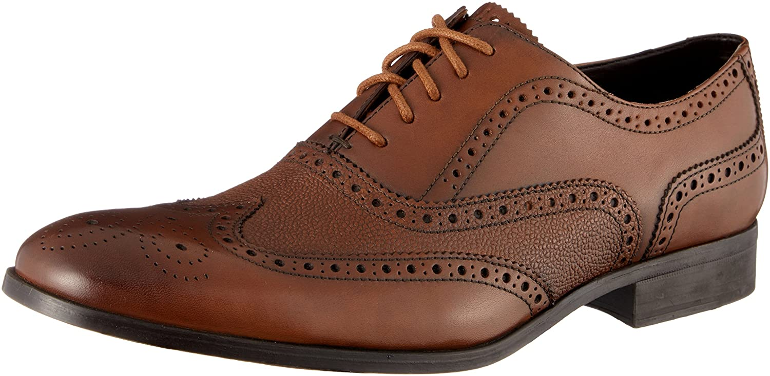 Clarks Gilmore Limit, Zapatos de Cordones Brogue para Hombre 43 EU|Marrón (Tan Leather)