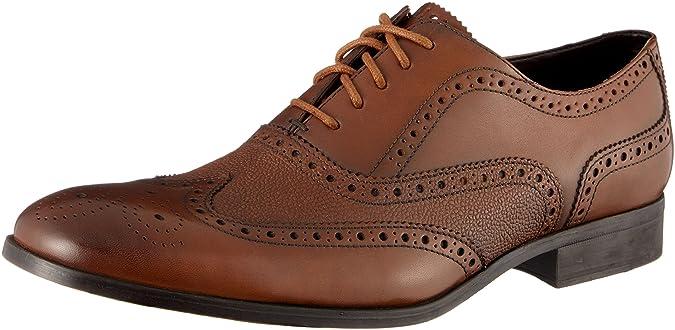Clarks Gilmore Limit, Zapatos de Cordones Brogue para Hombre, Marrón (Tan Leather), 45 EU