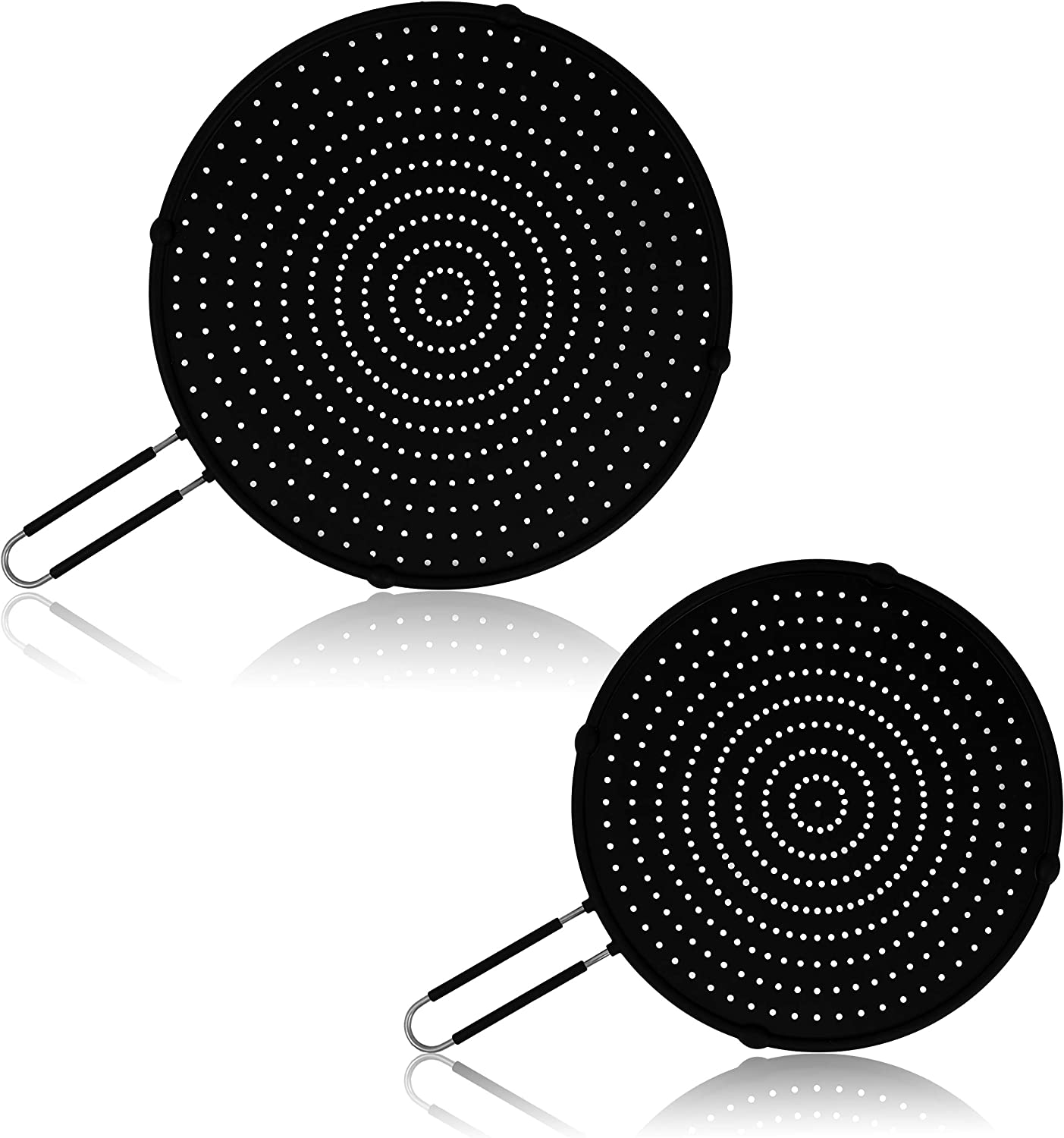 Silicone Splatter Screen for Frying Pan | Dulsen Home | Used As Splatter Guard, Strainer and Cooling Mat | Heat Resistant, Non-Stick | Includes 13 inch and 11 inch Splatter Screens