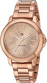 Tommy Hilfiger Womens Casual Sport Quartz Watch Strap, Rose Gold, 18 (Model: