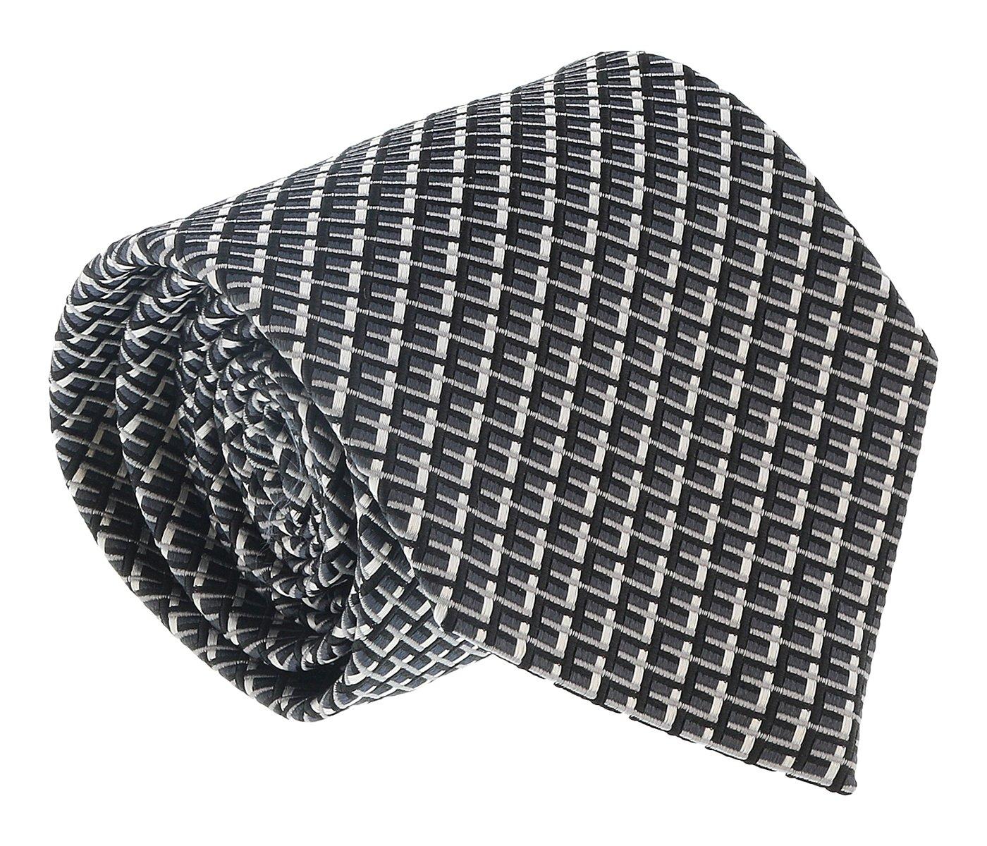 Ermenegildo Zegna Grey Geometric Tie for mens