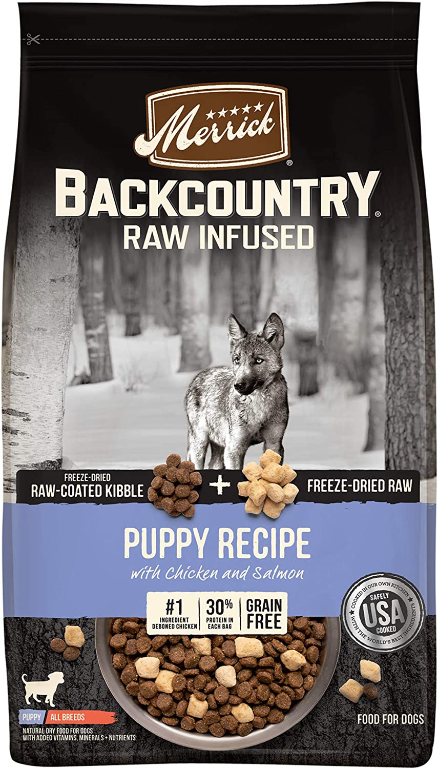 Merrick Backcountry Raw Infused Grain Free Dry Dog Food Puppy Recipe - 10.0 lb Bag