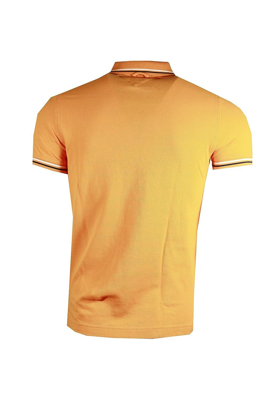 Tommy Hilfiger Mens Big Logo Slim FIT Stripped Collar Polo