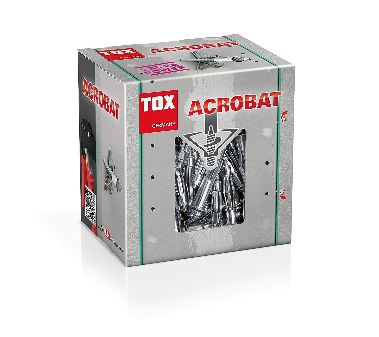 035101071 50 piezas TOX Taco hueco met/álico Acrobat M5 x 52 mm
