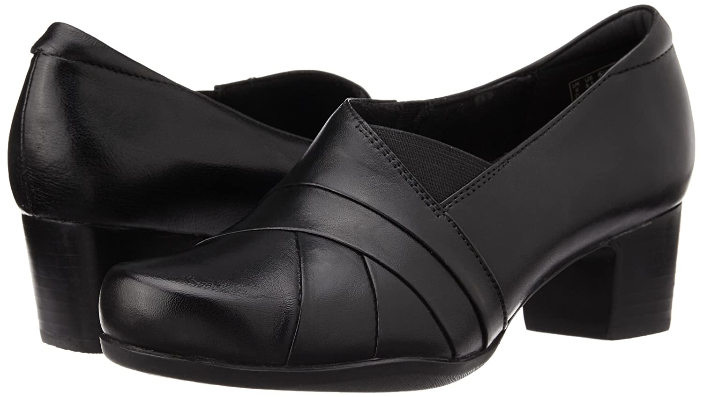 Clarks Rosalyn Adele Black Leather 5 UK D / / / 38 EU - af4168
