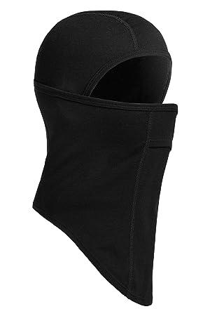 dbf707c7429 Icebreaker Unisex s Oasis Merino Balaclava Headwear-Black