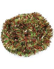 DIYASY 10M Christmas Tinsel Garlands Christmas Chunky Tinsel Decoration for Christmas Tree Decorations