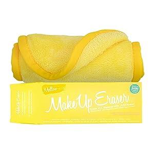Makeup Eraser The Original MakeUp Eraser, Erase All Makeup With Just Water, Including Waterproof Mascara, Eyeliner, Foundation, Lipstick and More (Mellow Yellow), 1 ct.