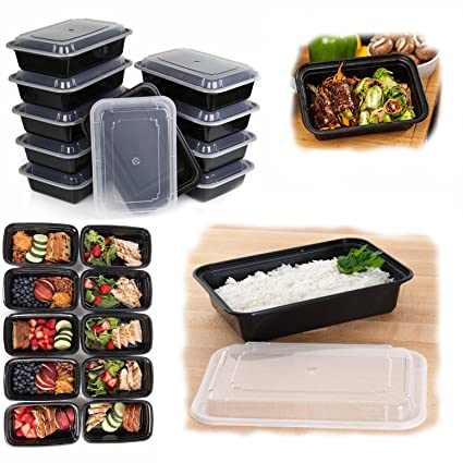 10 Pack Food Storage Lunch Box Set Portion Control Meal Prep Reusable  Containers