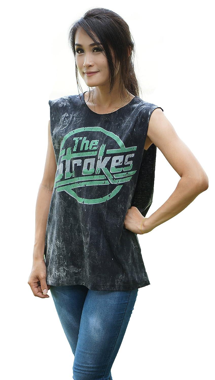 Bkksnow The Strokes indie Rock Band sleeveless Tank Top Shirt