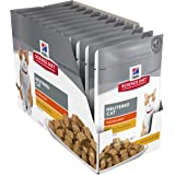 Hill's Science Diet Young Adult Wet Cat Food, Neutered Chicken Cat Food Pouches, 85g, 12 Pack
