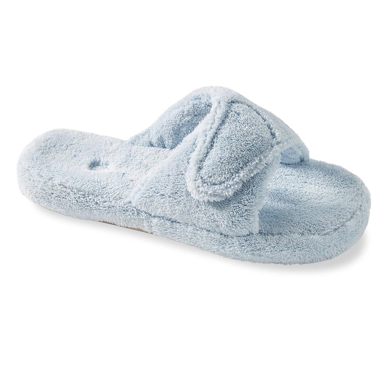 Acorn Women's Spa Slide II Slippers Powder Blue XL Wide
