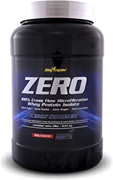 Big Man Nutrition Zero Whey Proteína Isolate, Fresa - 910 gr
