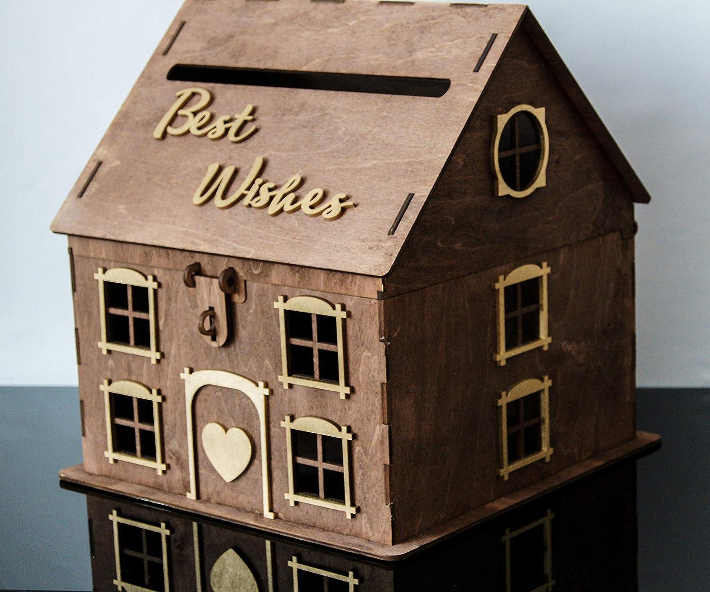 Amazon Com Rustic House Wedding Card Box Wedding Money Box Wood