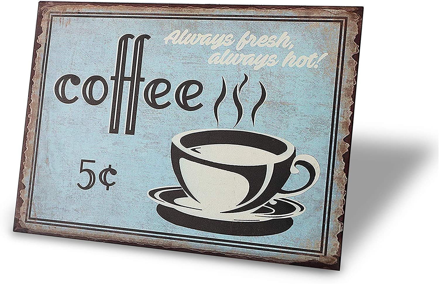 TINSIGNS Coffee for 5 Cents Menu Funny Bar Pub Garage Diner Cafe Home Wall Decor Retro Vintage Sign 8 X 12Inch