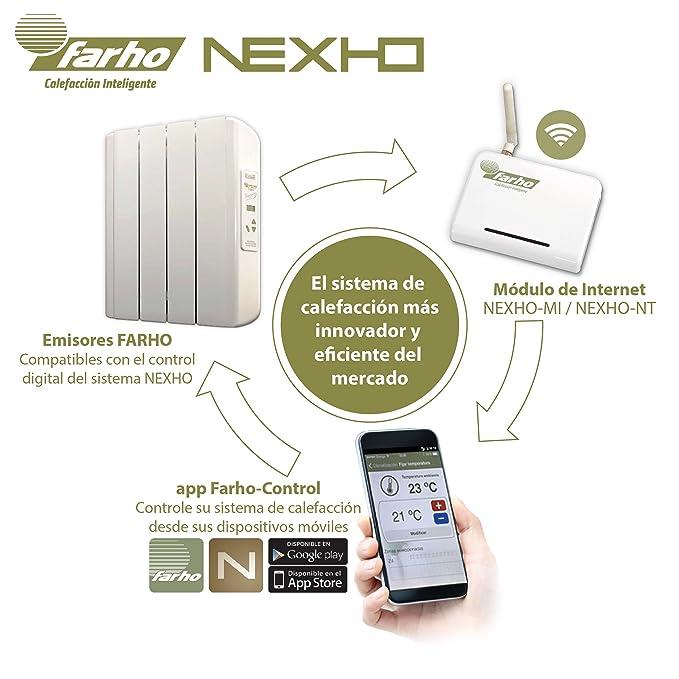 Farho - Módulo Control Internet Farho-MI . Le permitirá controlar cualquier Radiador eléctrico Farho que haya instalado en su vivienda por medio de ...