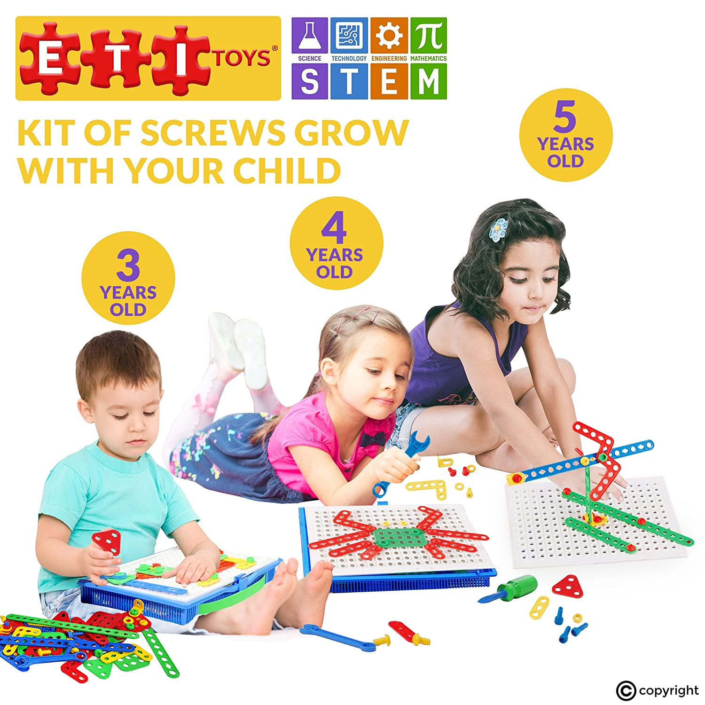 Amazon ETI Toys Kit of Screws for Boys and Girls 92 Piece