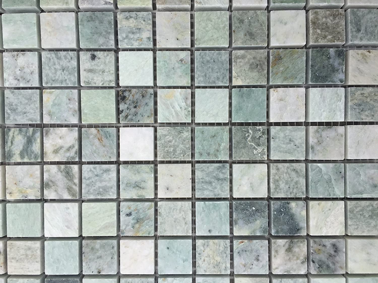 78 X 78 Ming Green Marble Onyx Polished Mosaic Tiles Amazon