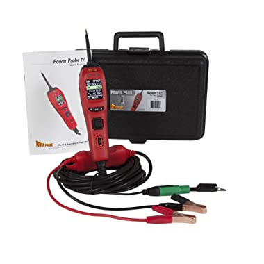 Power Probe IV w/Case & Acc - Red (PP401AS) [Car Diagnostic Test Tool Digital Volt Meter ACDC Current Resistance Circuit Tester Fuel Injector Tester]