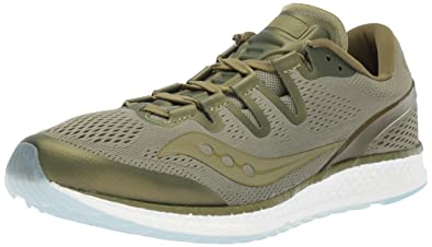save off b424c 2ea7b Saucony Freedom ISO Unisex Running Shoe, Olive, 9.5 Medium US