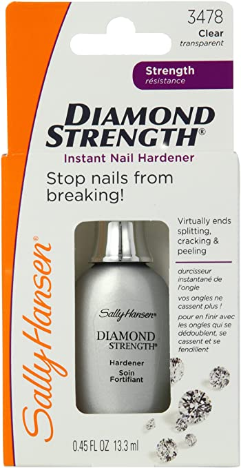 sally hansen diamond strength nail hardener review